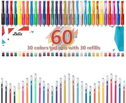 60 Pack Gel Pen Set Drawing Doodling Crafting Journaling Scrapbooking for Kids