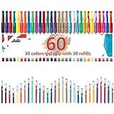 Gel Pens, Lelix 60 Pack Gel Pen Set, 30 Colors Gel Pen with 30 Refills for Kids Adult Coloring Books, Drawing, Doodling, Crafting, Journaling, Scrapbooking