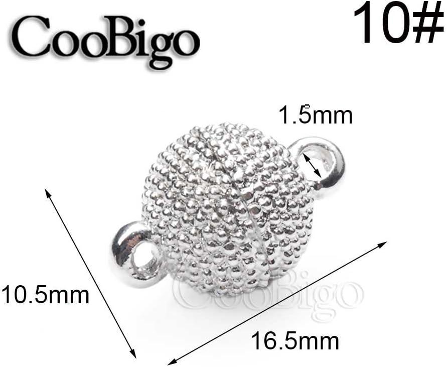 5 Set 8 mm ~ 14 mm Rhodium Kristall Strass Runde Magnetverschl/üsse Schmuck Findings DIY Halskette Armband Frauen Geschenke Zubeh/ör 8 mm Oval Magnetic Clasps