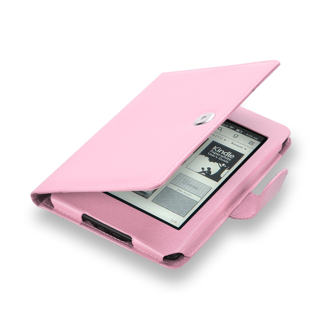 Elsse For Kindle 6'' Glare Free - Folio Case Cover for Kindle (7th Generation), Light Pink - will not fit previous generation Kindle devices