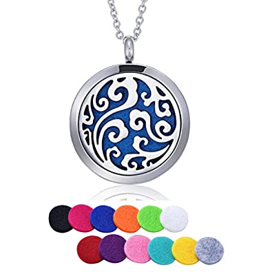 Hooami Sky Clouds Aromatherapy Essential Oil Diffuser Necklace