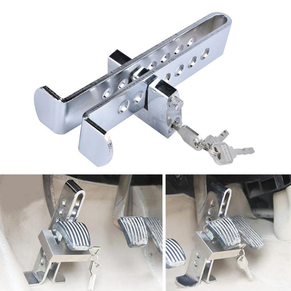 8 Hole Auto Car Truck Anti-theft Device Clutch Lock Brake Tool Anti-Lock Picking Safety Lock Tool Accelerator Pedal Lock
