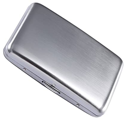 c3629491798 Stainless Steel Rfid Blocking Credit Card Holder for Men Women - Stylish  Travel Wallet - Best Protection for Your Cards Against Rfid Scanning - Cool  ...