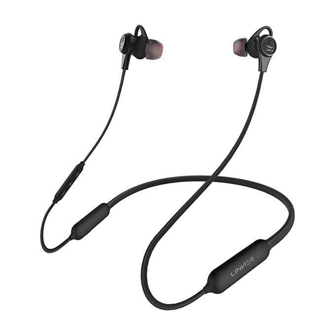 Review LINNER NC50 Active Noise Cancelling Headphones - Up to 97%(28dB) Noise Cancelling Wireless In Ear Earbuds Bluetooth V4.1 Sports Neckband Magnetic Earphones with Deep Bass HD Stereo, 13-Hours Playtime