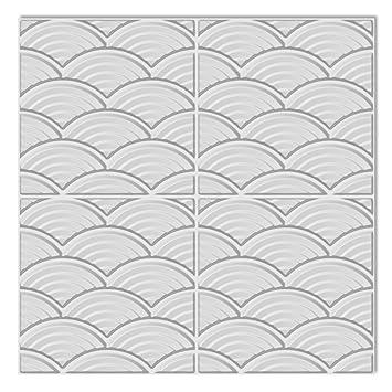 vidaXL 6m² Wandpaneele 3D Wandverkleidung Deckenpaneel 0,5 x 0,5 m ...