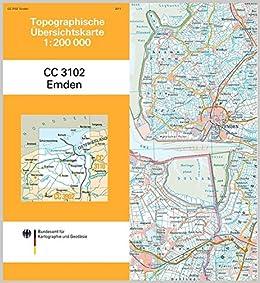 Emden Karte.Emden Topographische Karte 1 200 000 Cc3102