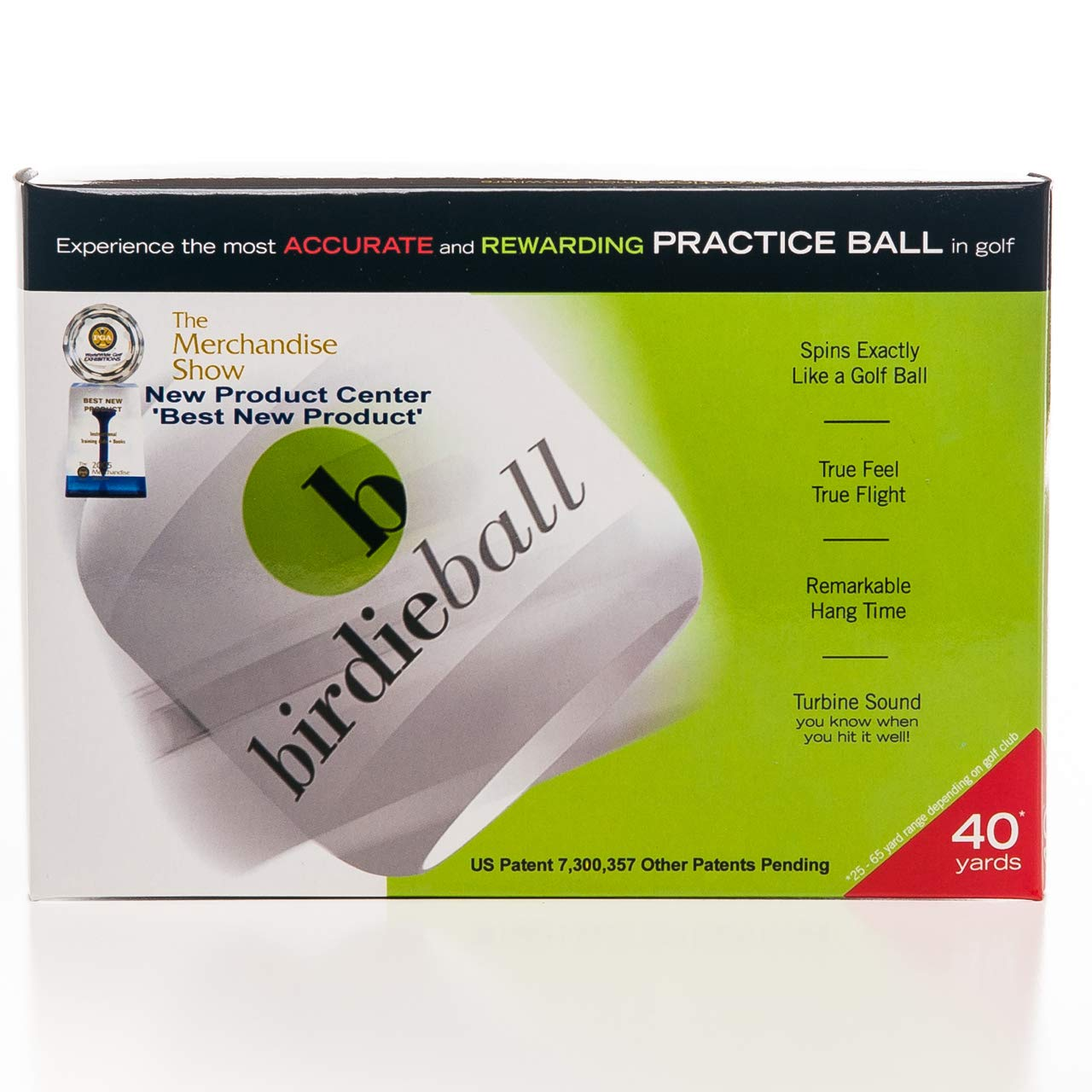 BirdieBall Practice Golf Balls, Full Swing Limited Flight Golf Practice Balls, Perfect Training Aid for All Golfers (pack of 12) by BirdieBall