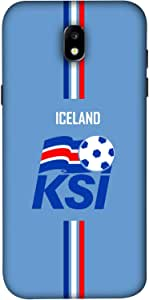 ColorKing Samsung J5 Pro 2017 Football Blue Case shell cover - Fifa Iceland 01