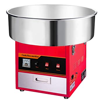 Clevr Large Red Commercial Cotton Candy Machine