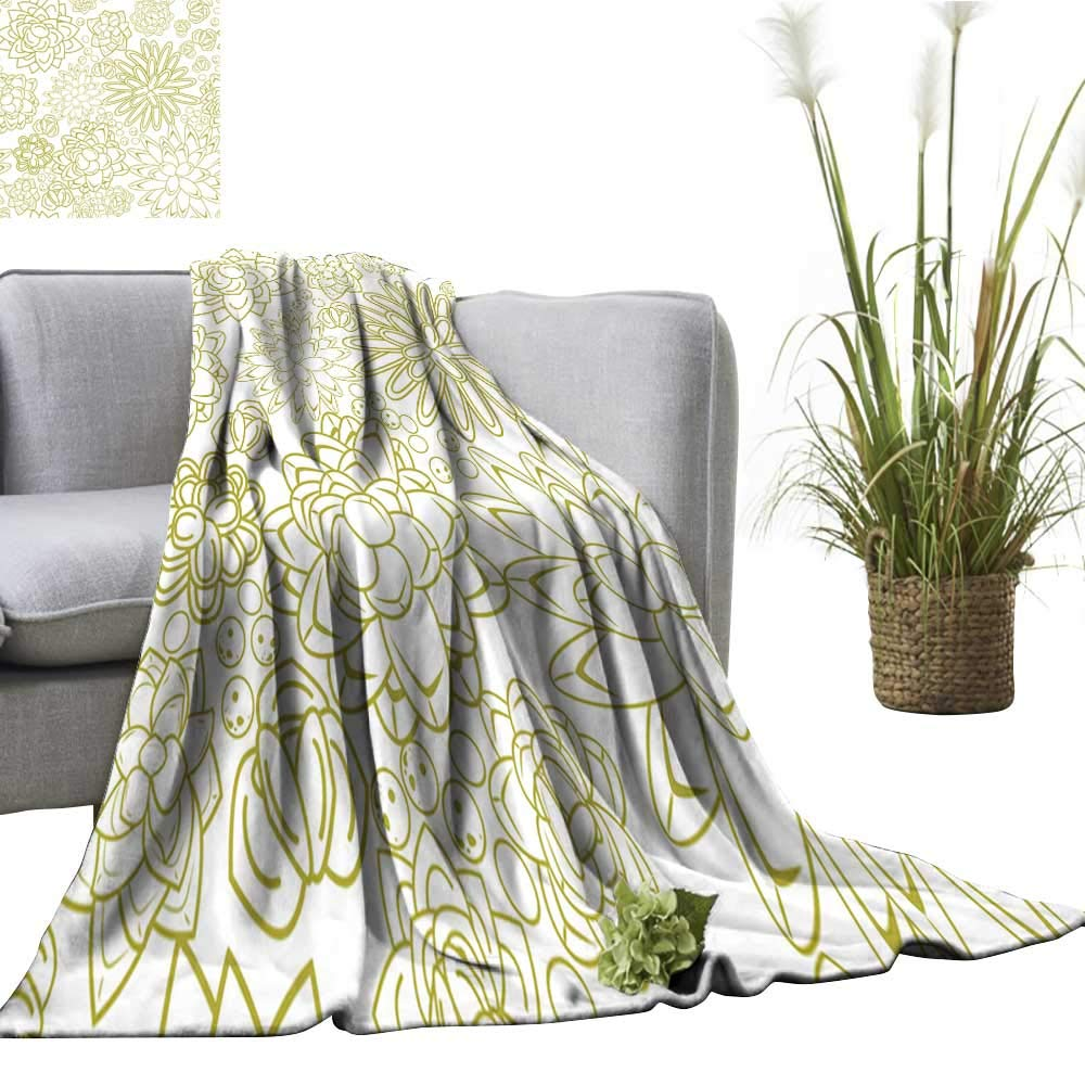 color02 70 Wx84 L colerapee Super Soft BlanketsSummer Abstract Flowers Sofa Chair 51  Wx60 L