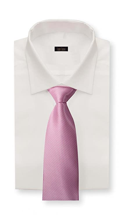 Corbata de Fabio Farini en blanco rosa: Amazon.es: Ropa y accesorios