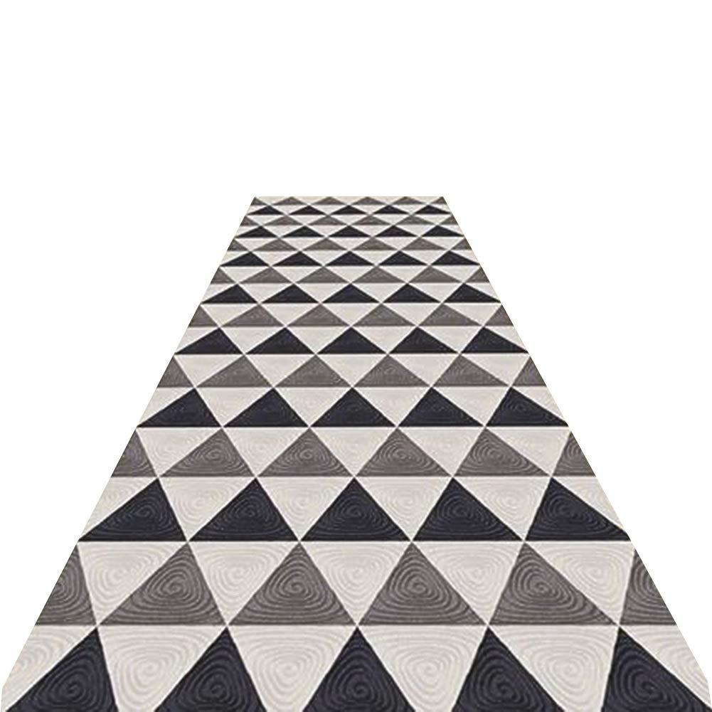 YANGJUN 廊下のカーペット 滑り止め 洗える イージーケア 丈夫 ホテル 通路 家庭 三角形 スプライス カッタブル 複数のサイズ カスタマイズ可能 グレー (色 : A, サイズ さいず : 1.4x6m) 1.4x6m A B07PZ77HW8
