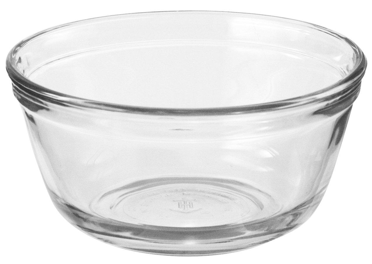 Anchor Hocking Glass Food Prep and Mixing Bowls, 4 Quart (Set of 2)
