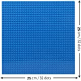 "EduToys Plastic Base Plate Board (Blue , 10"" x 10"") for Building Blocks Bricks"