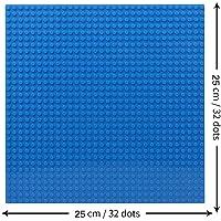 "EduToys Plastic Base Plate Board (Blue , 10"" x 10"") for Building Blocks Bricks"