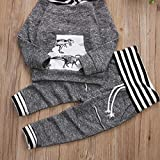 Toddler Infant Baby Boys Dinosaur Long Sleeve