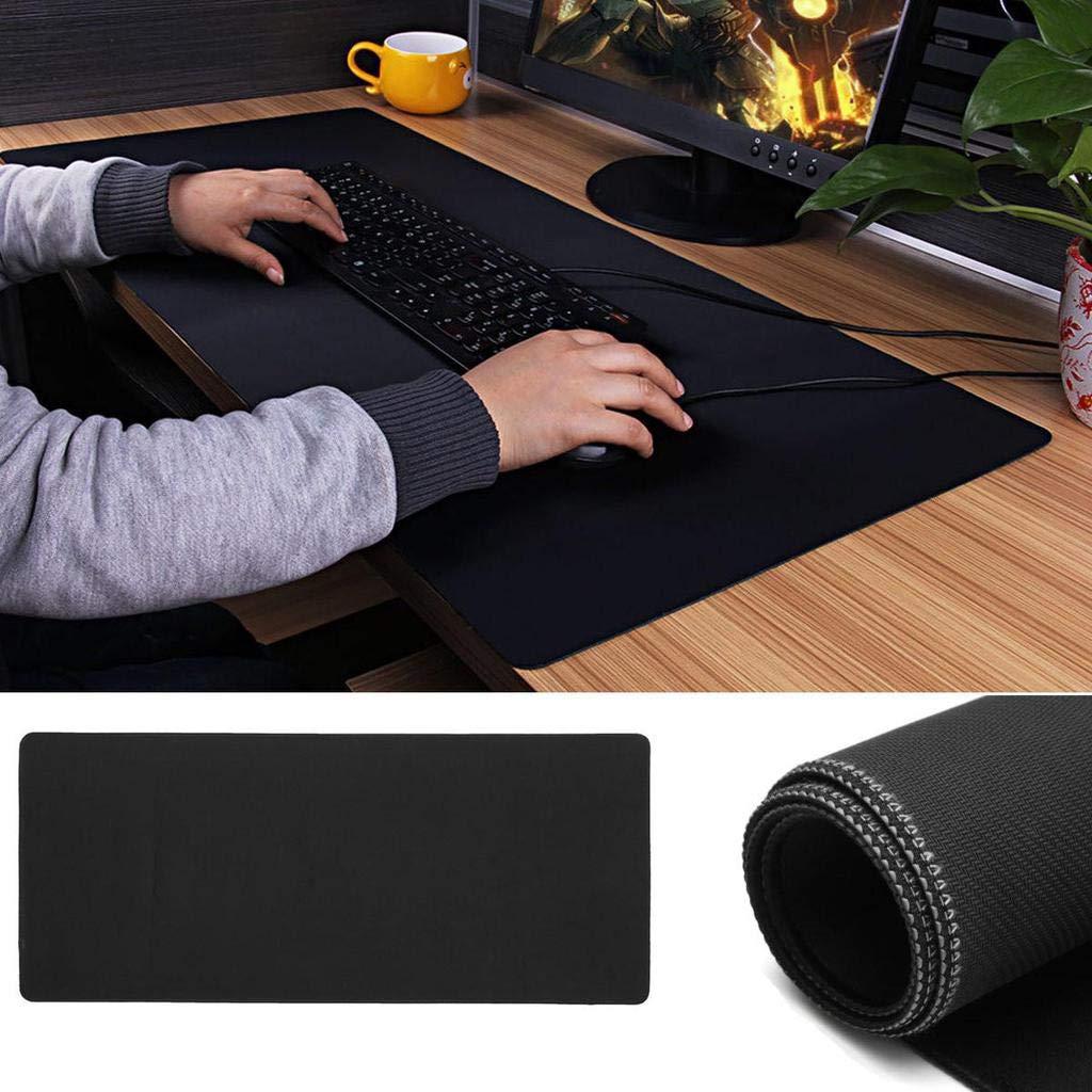 MTOFAGF 90x40cm ラージ ブラック ノンスリップ ゲーム用マウスパッド キーボードマット オフィス デスク マウスパッド MTOFAGF 最高の商品をお届けします(色:ブラック) B07M7JWZDQ