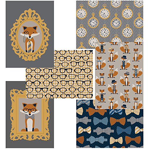 60 Postcards - Fox and the Houndstooth - 6 Different Images