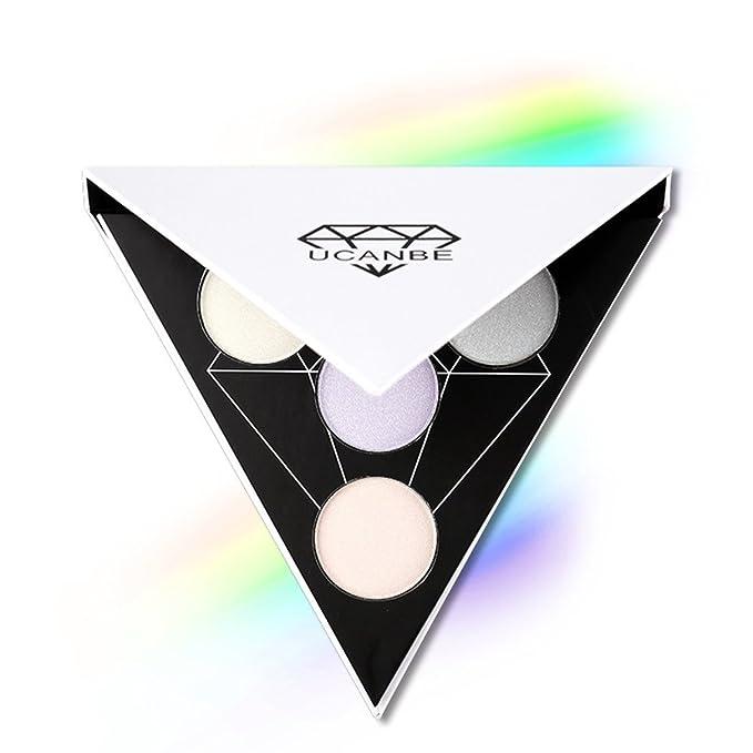 ucanbe Shimmer - Subrayador paleta Flash polvo iluminador - brillante luz de sombra de ojos de relieve de la cara Maquillaje: Amazon.es: Juguetes y juegos