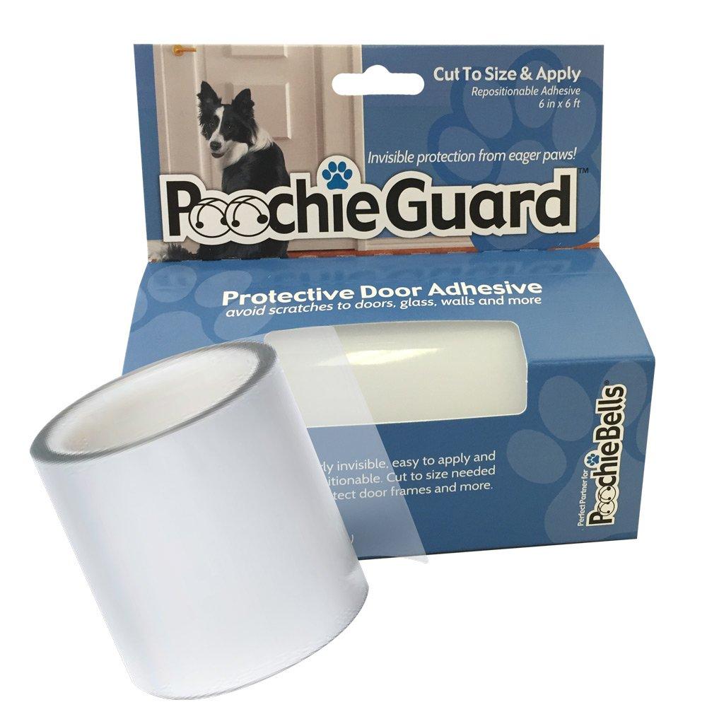 PoochieGuard Invisible Lightweight Protective Clear Film for Your Home's Doors, Windows and More; Protect Your Home From Eager Paws & Claws.
