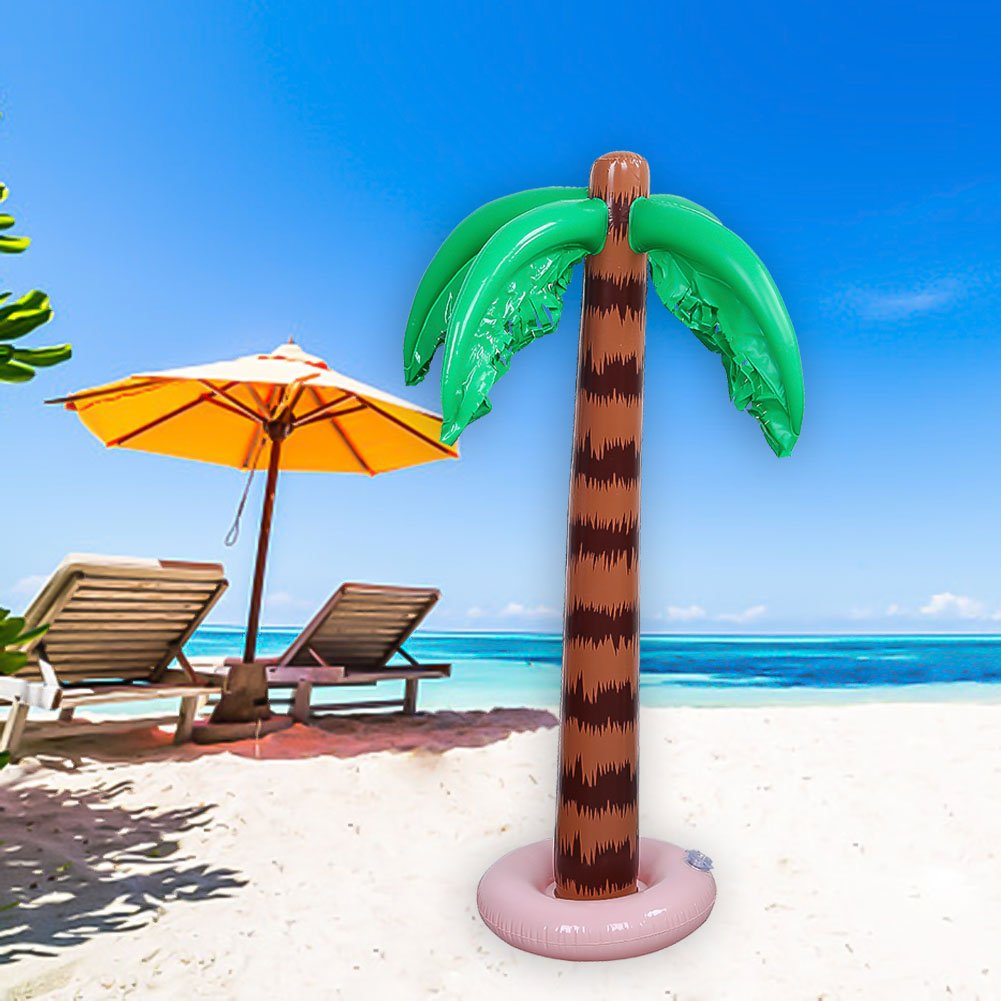 Dssy 2 Pack Inflatable Palm Trees Jumbo Coconut Trees For Hawaiian Luau Party... Bälle