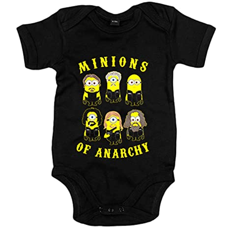 Body bebé Sons Of Anarchy Minions - Negro, 6-12 meses