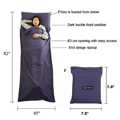 Saco de dormir Liner ligero cálido amplio saco de dormir sueño hoja Pad para Camping viaje