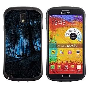 "Hypernova Slim Fit Dual Barniz Protector Caso Case Funda Para Samsung Note 3 [Carro Carro del caballo maderas de Halloween""]"