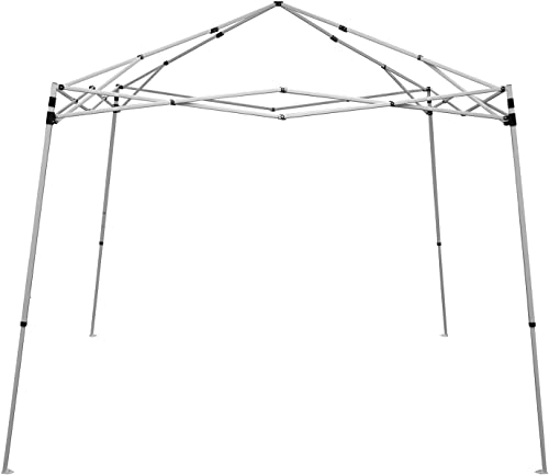 Caravan Canopy 21007900010 10×10 V-Series, 12 x12 base 9 x9 top, White