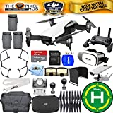 DJI Mavic Air (Arctic White) #CP.PT.00000138.01 - ALL YOU NEED BUNDLE With Landing Pad, VR Goggles Plus Much More (3 Batteries Total)