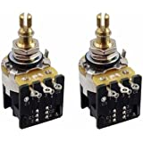 CTS 500K Push Pull Short Shaft Audio Taper Potentiometers - Pair (2X) - Includes Wiring Diagram