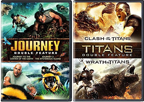 Clash of the Titans / Wrath of the Titans + Journey To The Center of The Earth & The Mysterious Island Amazing Fantasy Double Feature