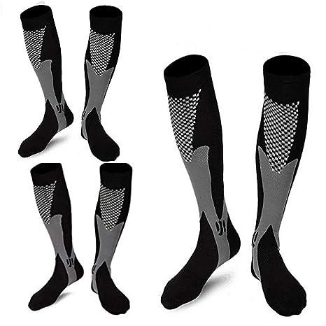 3 pares de calcetines de compresión de deporte médico para hombres varices