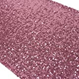 Koyal Sequin Table Runner, 12 by 108-Inch, Pink