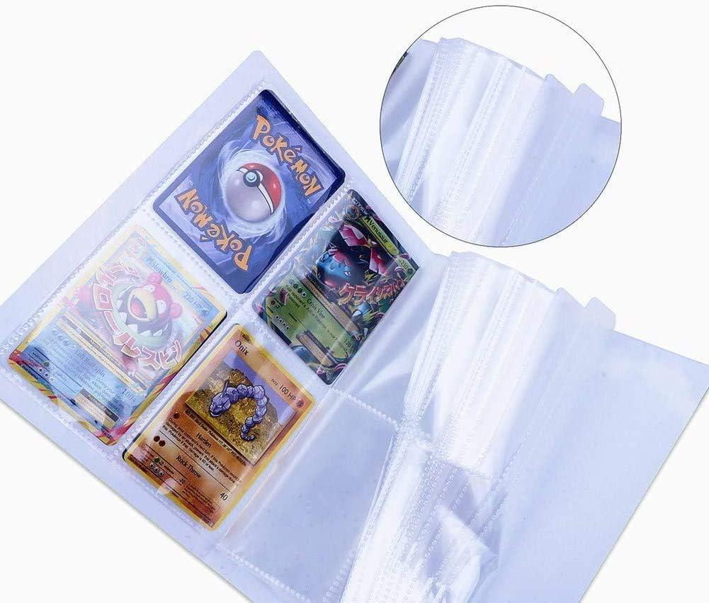 Blu pu/ò ospitare 120 Carte a Caricamento Singolo o 240 a Doppio Caricamento Ash Ketchum Porta Carte Pokemon Album per Carte Pokemon GX Ex Funmo Raccoglitore Carte Pok/émon