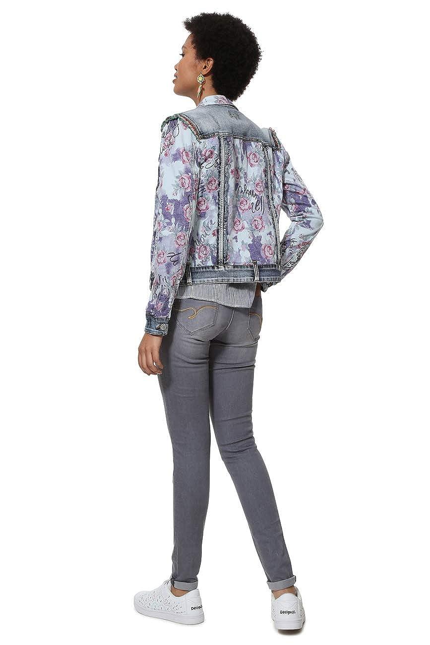 Amazon.com: Desigual Chaq_Roses - Chaqueta para mujer: Clothing