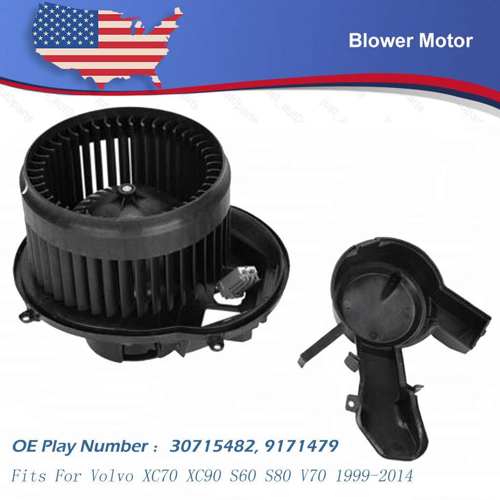 A//C AC Heater Blower Motor w// Fan Cage for Volvo XC70 XC90 S60 S80 V70 1999-2014