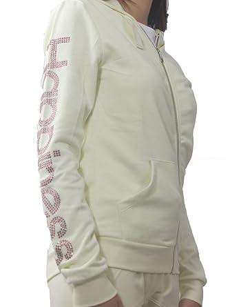 9a5ebb25d4f49d Women s RHINESTONE Sweater ZIP-Happiness MainApps  MainApps  Amazon.co.uk   Clothing