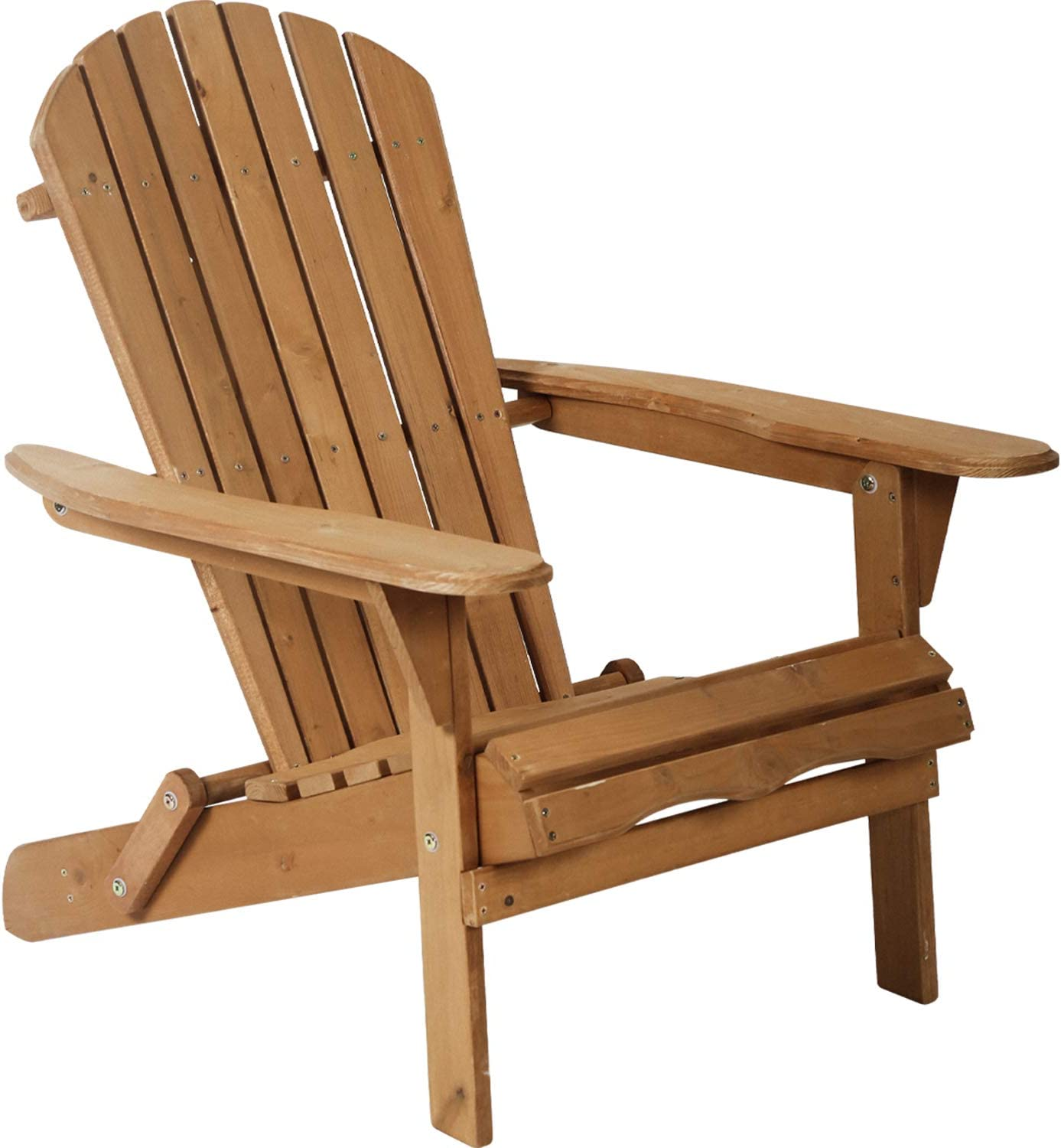 Adirondack Chair Patio Chairs Lawn Chair Folding Adirondack Chair Outdoor Chairs Patio Seating Fire Pit Chairs Wood Chairs For Adults Yard Garden W Natural Finish Furniture Decor