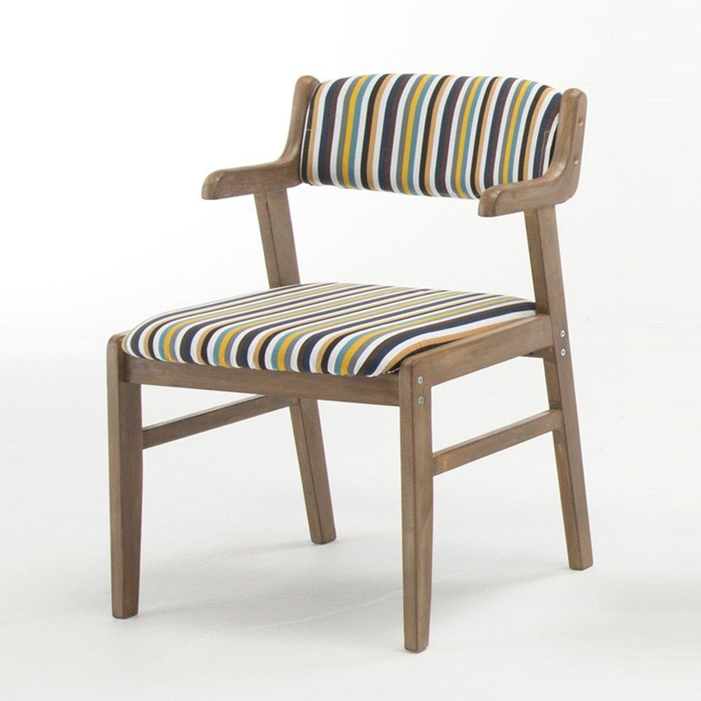 XY チェアベンチ JY - 802 シンプルでモダンな コットンリネンストライプ 組み立てることができます 快適な背もたれ 木製の椅子 (色 : 002)  2 B07H3WWTMR