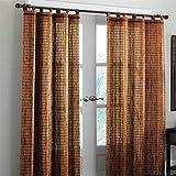 "Brylanehome Bamboo Tab-Top Panel (Honey Oak Brown,42"" W 63"" L)"