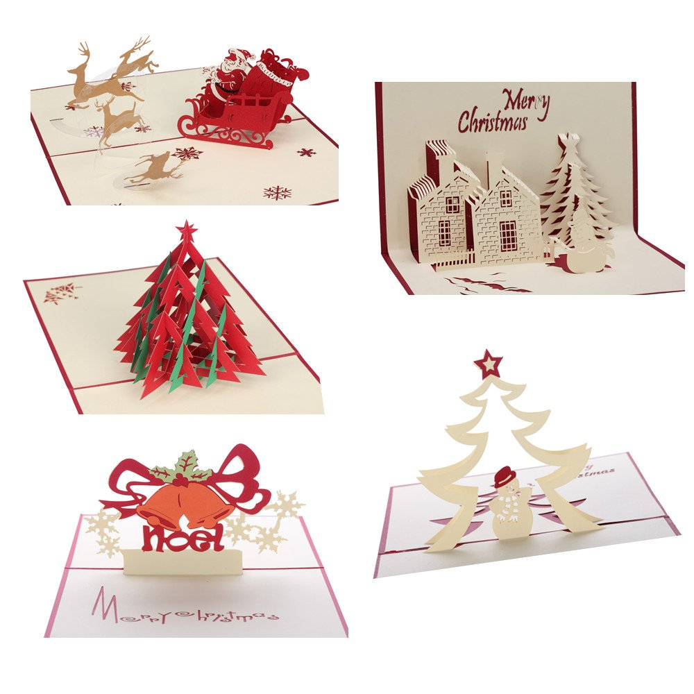 Amazon 3d christmas cards pop up greeting holiday cards gifts amazon 3d christmas cards pop up greeting holiday cards gifts for xmasnew year office products kristyandbryce Image collections