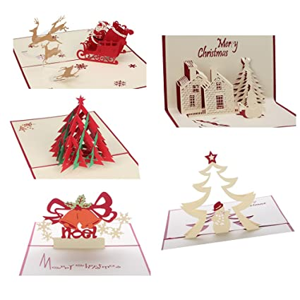 3d christmas cards pop up greeting holiday cards gifts for xmasnew year - Holiday Christmas Cards
