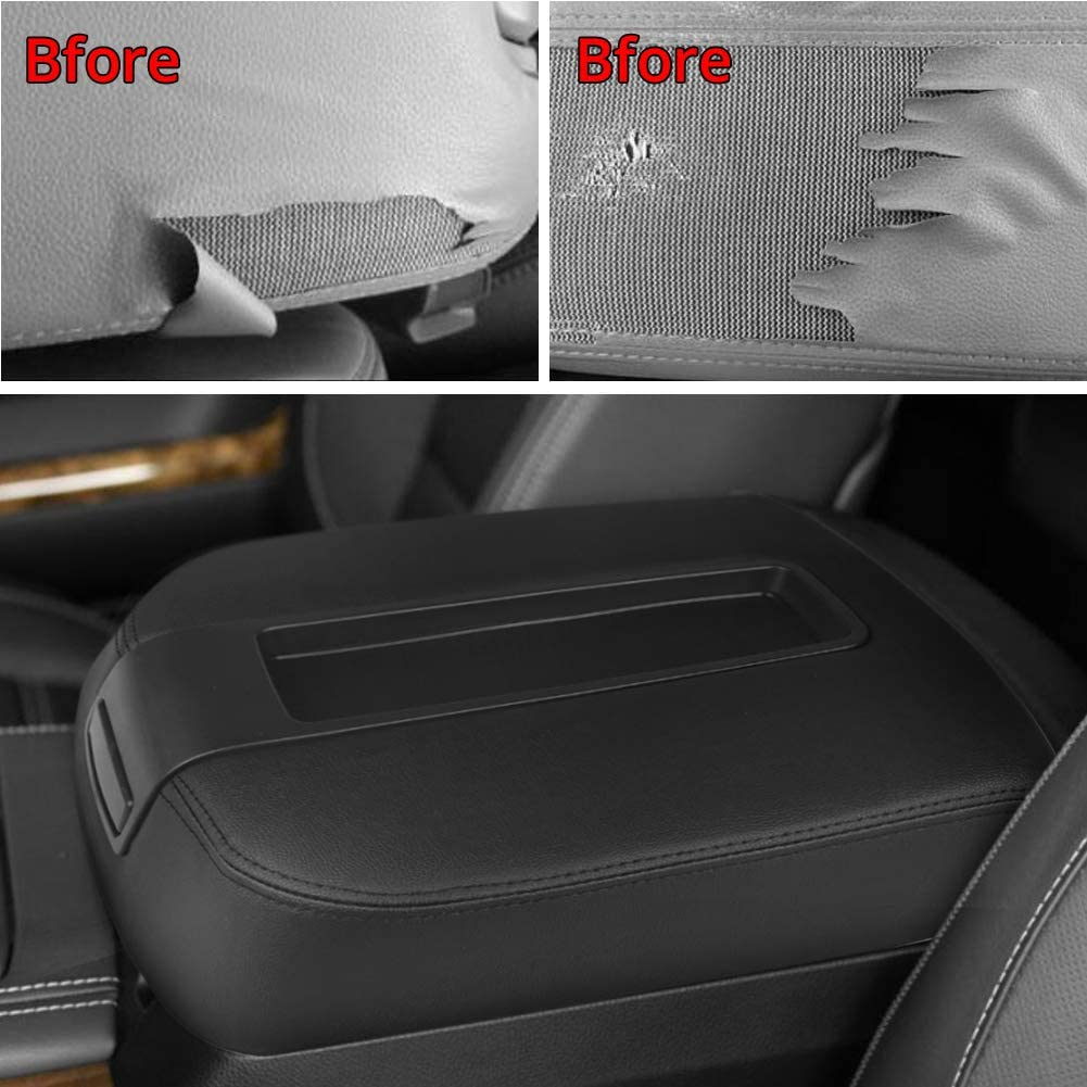 VANJING Center Console Cover Armrest Cover for 2007-2013 Chevy Avalanche Silverado Tahoe Suburban GMC Yukon Yukon XL Sierra Leather Part Only