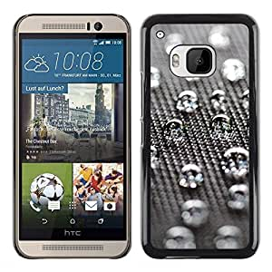 Shell-Star Arte & diseño plástico duro Fundas Cover Cubre Hard Case Cover para HTC One M9 ( Water Drops )