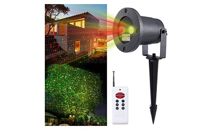 christmas outdoor laser lights projector with remote control red and green laser stars light show landscape