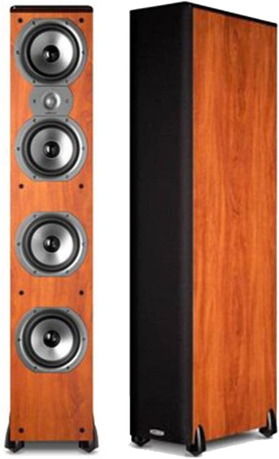 Polk Audio TSi500 High Performance Tower Speakers with Four 6-1 2 Drivers – Pair Cherry