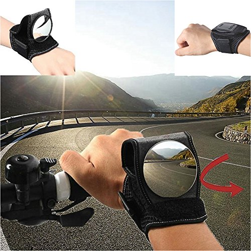 Rear View Mirror Arm (Bike Mirror Adjustable Bicycle Equipment Cycling Arm Wear / Wristband Safe Back Rear View Mirror (Black))