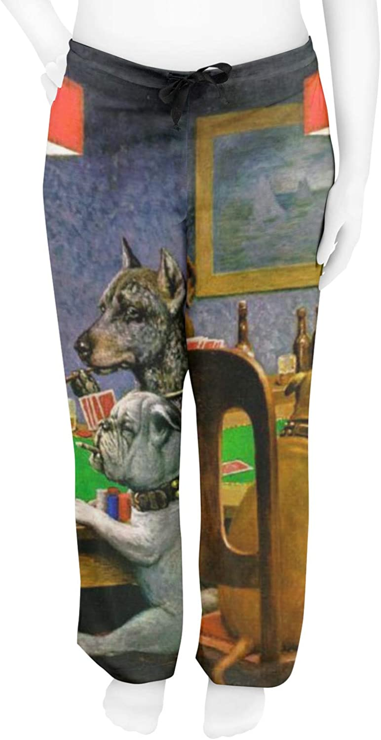XS RNK Shops Dogs Playing Poker by C.M.Coolidge Mens Pajama Pants