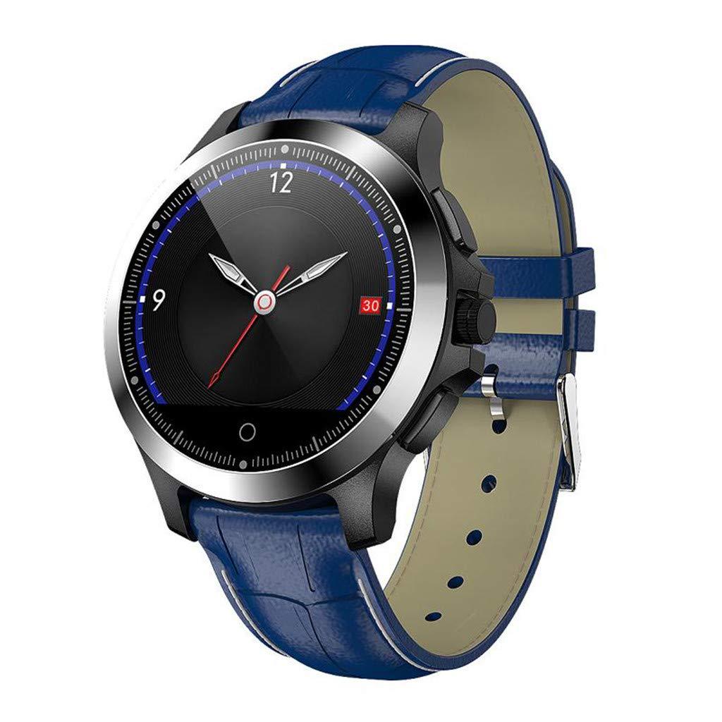 Hauzet Smart Bluetooth Watch, HRV&Blood Oxygen Sleep Monitor Watch,Fitness Activity Tracker Healthy Assistant (Blue)